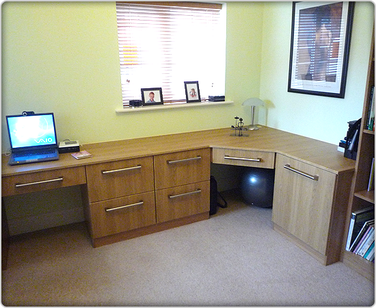 built in office furniture custom built home office furniture northamptonshire 12672
